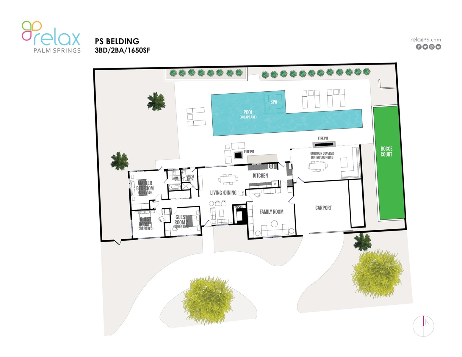 Floor Plan for Architecture, Style, Pool With Lap Lane: All Behind One Door!