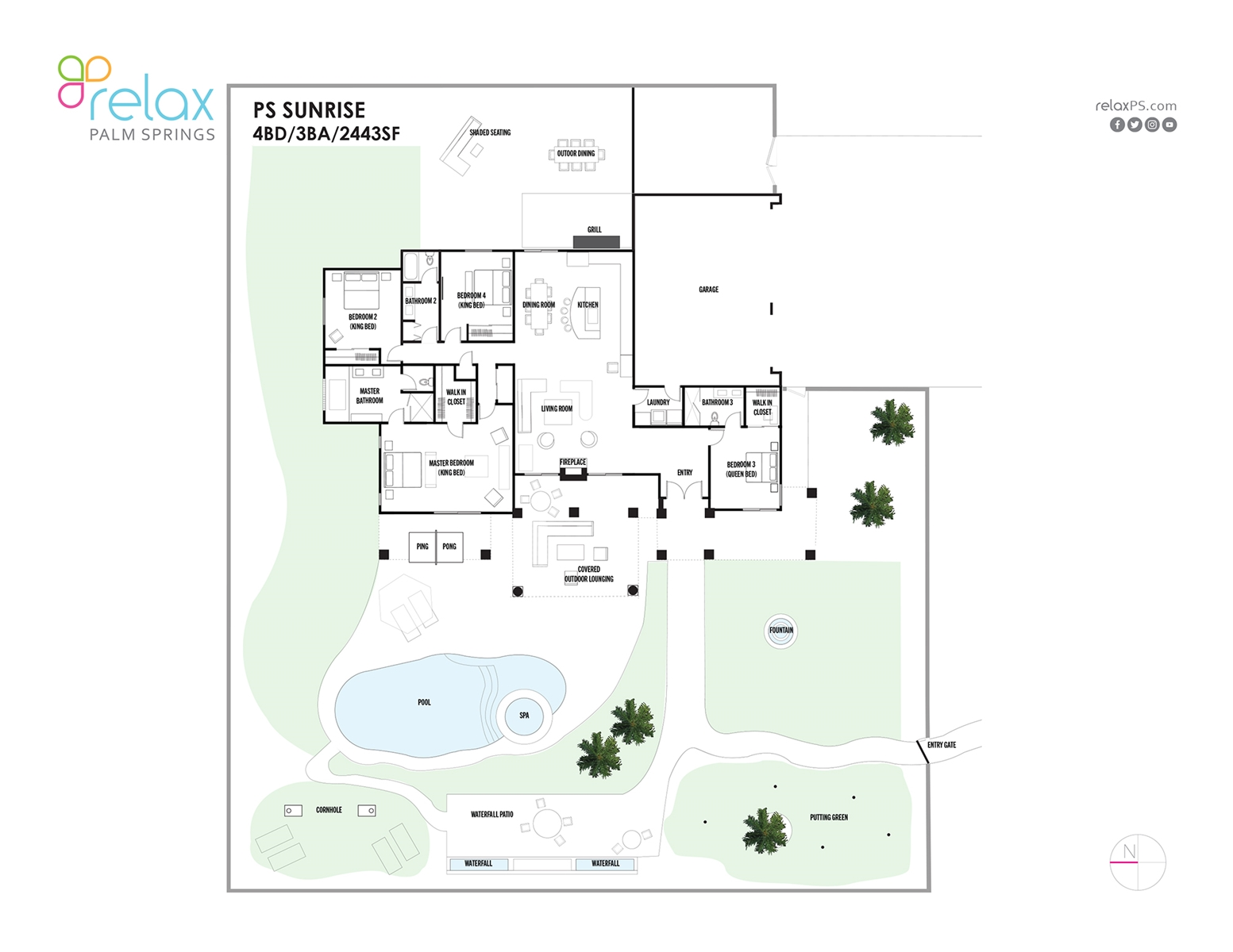 Floor Plan for Views, Games and Poolside Life at Its Best!
