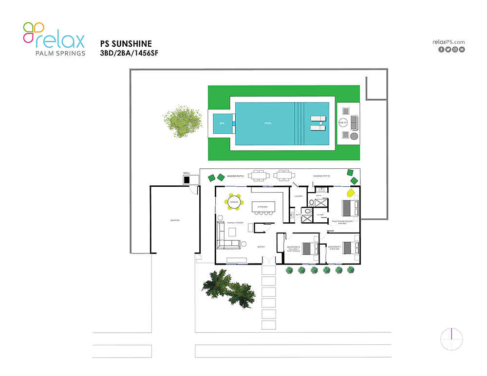 Floor Plan for Sunshine With Modern Comfort and Mid-Century Style